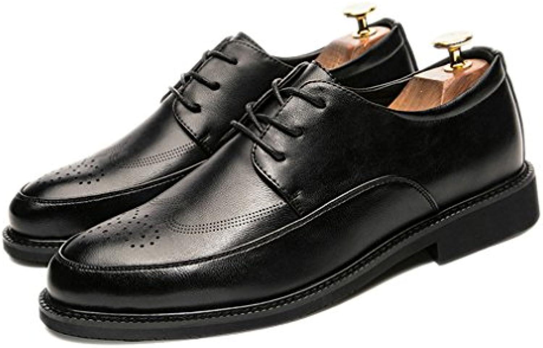 Xianshi Herren Beilaumlufig Schnüren Brogue Schuhe