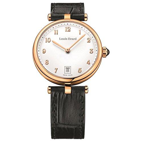 Louis Erard Romance Femme 33mm Bracelet Cuir Quartz Montre 11810PR40.BRCB5