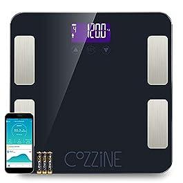 Bilancia Impedenziometrica Cozzine Bilancia Pesa Persona Digitale Bluetooth Smart Bilancia Massa Magra e Grassa Misura…