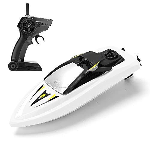 KOOWHEEL RC Boot, Ferngesteuertes Boot 2,4GHz Spielzeuge Über 20 Minuten Langlebige wasserdichte für Kinder, Geschenk (Boot Motor Mit Kleines)