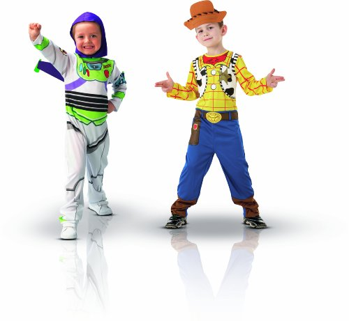 Imagen de disney i 5400  set de 2 disfraces infantiles y 2 máscaras buzz lightyear y woody, 4 6 años  alternativa