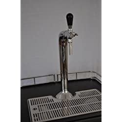 Grifo de cerveza (cromado, Con grifo compensador y boquilla de distancia)