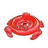 Krabbe Luftmatratze Schwimmen Schwimmsitz Aufblasbares Baby Float Swim Ring Nette Mittel Schwimmbad Boot Pool für Kinder Strand Wasserspielzeug (80cm*75cm)