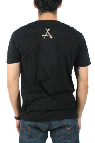 Affliction - - Herren Lieferung V-Neck W / Shldr Panl V-Neck T-Shirt In Black Black