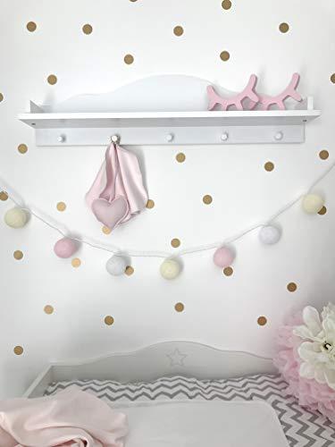Puckdaddy Wandregal, Regal Wolke (passend zum Puckdaddy Wickelaufsatz für IKEA Kommoden) (Kommode Knöpfe Für Baby)