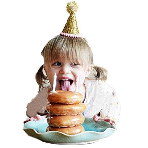 kingko® Mädchen Sequins Kopf Zubehör Headband Baby Elastische Blume Crown Headwear Gold