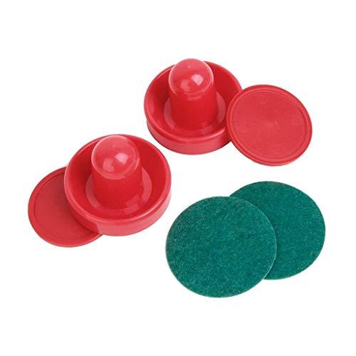 Isuper Sport Air Hockey Pucks und Paletten Set mit 2 roten Air Hockey-Schlägern und 4 roten Sporttaschen, Set mit Torwart-Tisch, Zubehör, Größe L (96 mm)