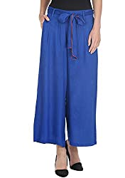American-Elm Blue Coloured Palazzo for Women