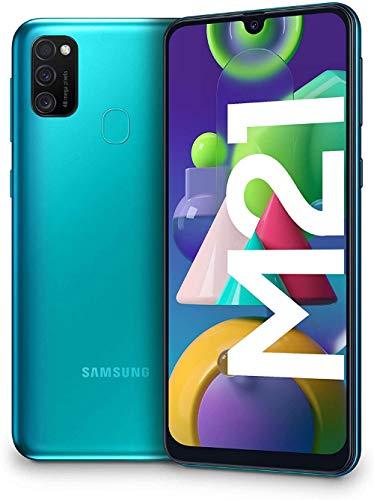 """Oferta de Samsung Galaxy M21 - Smartphone Dual SIM de 6.4"""" sAMOLED FHD+, Triple Cámara 48 MP, 4 GB RAM, 64 GB ROM Ampliables, Batería 6000 mAh, Android, Versión Española, Color Verde"""