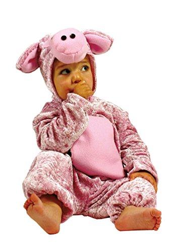 Karneval-Klamotten Schwein-Kostüm Kinder aus Plüsch Schwein-Overall Kinder Karneval Tier-Kostüm Schweinchen Baby-Kostüm Kinder-Kostüm Größe 104