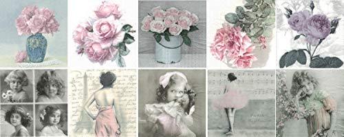 Zita\'s Creative Servietten Set mit Decoupage-Kleber - Sagen Vintage 2. Decoupage, Serviettentechnik,