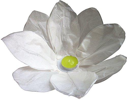 10 Stück Wasserlaterne Lotusblüte Seerose Schwimmlaterne Schwimmkerzen Laterne mit Teelichter Kerzen Windlicht Weiß (Schwimmende Lotus Kerzen)