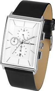 Jacques Lemans York - Reloj de cuarzo para hombre, con correa de piel de borrego, color negro de Jacques Lemans