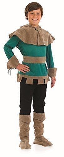 Jungen Robin Hood Mittelalterlich Held Villain Büchertag Historisch TV Film Character Kostüm Kleid Outfit - Grün, 6-8 (Kostüme Mittelalterliche Film)