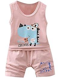 56ea2de9d Logobeing 2PC Conjunto Ropa Bebe Recien Nacido Verano 0-24 Meses Niños de  Dibujos