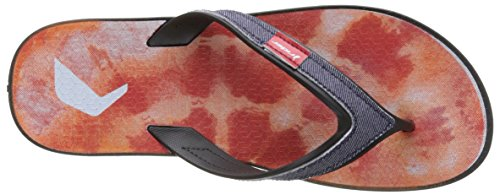 Rider Shape Mix Ad, Tongs Homme Noir (Black/Red)