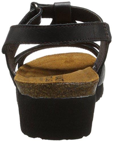 Naot Womens Rachel Leather Sandals Schwarz
