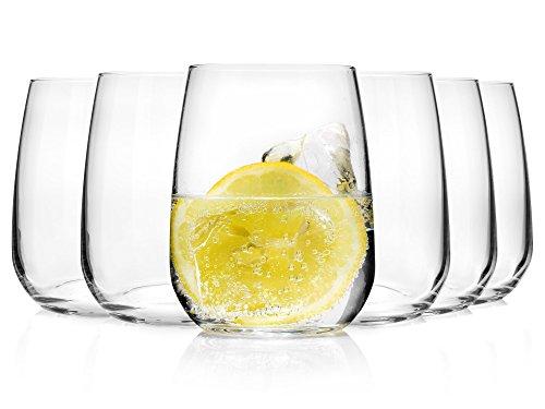 Bormioli Wasserglas Set 'Premium' 6 teilig | Gastronomiequalität | Füllmenge Trinkglas 43 cl | Höhe 10,7 cm | Perfekte Brillianz dank Star Glass Technologie