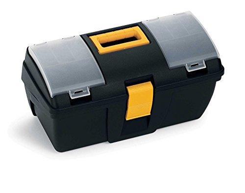 Terry 161C Werkzeugkoffer klein mit Tablett und Organizer Transparent–Maße: 39.3x 18.9x 20cm