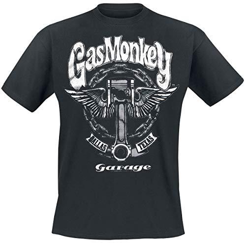 Gas Monkey Garage Big Piston T-Shirt schwarz L -