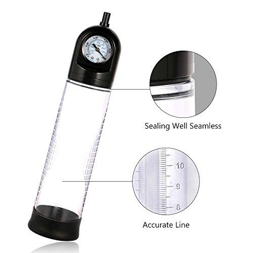 YHJ Penispumpen Vakuumpumpe mit Barometer, Erektion und Verlängern Penis für Potenz-Training Sextraining & Potenzsteigerung mit extra Mini Vibrations-Ei - 2
