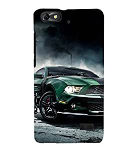 PrintVisa Designer Back Case Cover for Huawei Honor 4C :: Huawei G Play Mini (Green Car In A Garge)