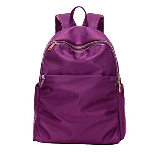 Sacchetto Di Tela Di Canapa Dello Zaino Di Corsa Di Modo Di Grande Formato Delle Signore Del Sacchetto Di Spalla Semplice Selvaggio Selvatico Purple