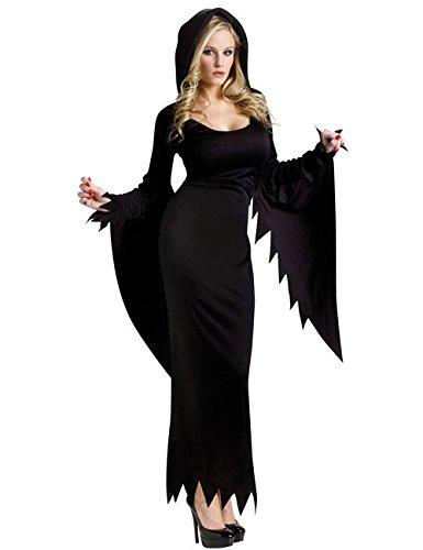 Partyauge Verführerisches Hexen-Kostüm für Damen schwarz M / ()