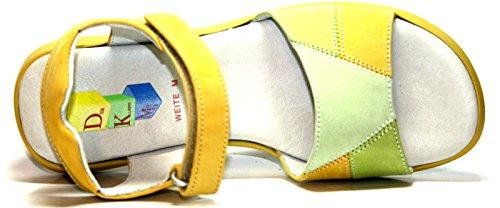 Der Kleine Muck , Bride cheville fille Multicolore - Grün/Gelb