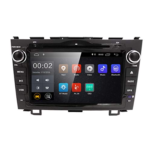 Android 8.1 in Dash GPS DVD Player For Honda CRV CR-V 2007 2008 2009 2010 2011 Auto Radio Navigation 8 inch HD Touchscreen Support TPMS DAB+ OBD2 DTV Support TPMS DAB+ OBD2 DTV WIFI 4G