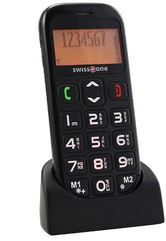 swisstone BBM 320 - Seniorenhandy mit Notruftaste (4,3 cm (1,7 Zoll) Display, 600mAh Akku) schwarz