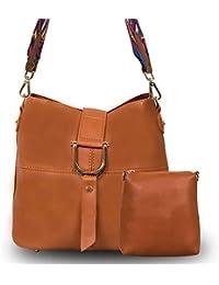 Zureni PU Leather Girls Crossbody Bag 2 In 1 Tribal Strap Messenger Shoulder Bag For Women With Additional Crossbody...