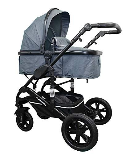 Cynebaby California Kombi-Kinderwagen 3in1 mit Babyschale (anthrazit ohne Babyschale)
