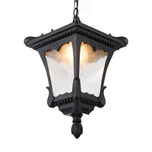 Preisvergleich Produktbild YJH Outdoor Wasserdichte Kronleuchter,  Korridor Kronleuchter Outdoor Garten Pavillon Aisle Balkon Lampe E27 Aluminium harmonisch und heiter ( Farbe : 2 ,  größe : 31.5*17CM )