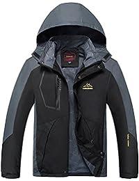 548f5c9361a126 Herren Wasserdichte Jacke Outdoor Große Atmungsaktive mit Kapuze  Bergsteigen Reise Softshell Jacke