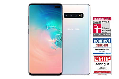 Samsung Galaxy S10+ Smartphone (16.3cm (6.4 Zoll) 128 GB interner Speicher, 8 GB RAM, prism white) - [Standard] Deutsche Version Ceramic White
