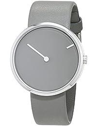 Jacob Jensen Herren-Armbanduhr Analog Quarz Leder 32252