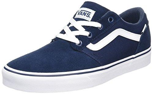 Vans Herren Chapman Stripe Sneaker, Blau (Suede/Canvas), 44 EU