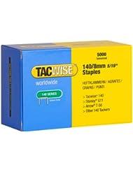 Tacwise 0341 Boîte de 5000 Agrafes galvanisées 8 mm Type 140
