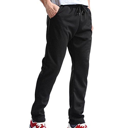 Lang Sporthose für Herren - Einfarbig Slim Fit Trainingshose mit Kordelzug Bequem Mode Stoffhose Jogginghose Sweatpants für Jogger Läufer