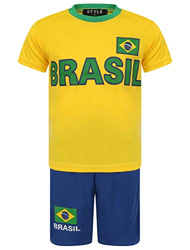 Aelstores de Verano de fútbol Cortos Chicos Nuevas Muchachas Camiseta Superior Kit Chaleco Set Color...