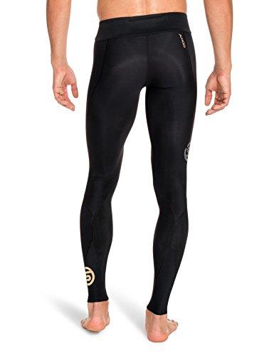 Skins Herren A400 Long Tights Lange Hose, Schwarz black/black