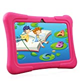 Dragon Touch Y88X Plus Tablet per Bambini 7 Pollici Wi-Fi e Bluetooth IPS HD 1024 * 600 Android 8.1 Quad Core 1 GB RAM 16 GB Rom Kidoz e Google Play preinstallato con Kid-Proof Custodia (Rosa) …