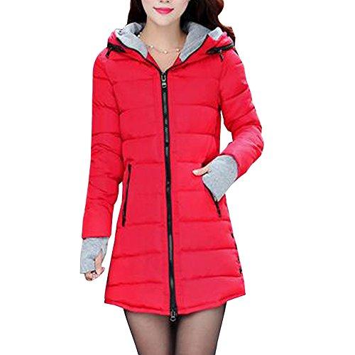 Trendstil Frauen Jacke Winter Lang Einstellbare Taille