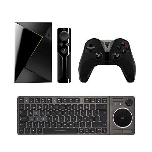 Nvidia Shield TV Media Streaming Player (16 GB, inkl  Fernbedienung) +  Corsair K83 Wireless Entertainment Tastatur (Weiße  LED-Hintergrundbeleuchtung,