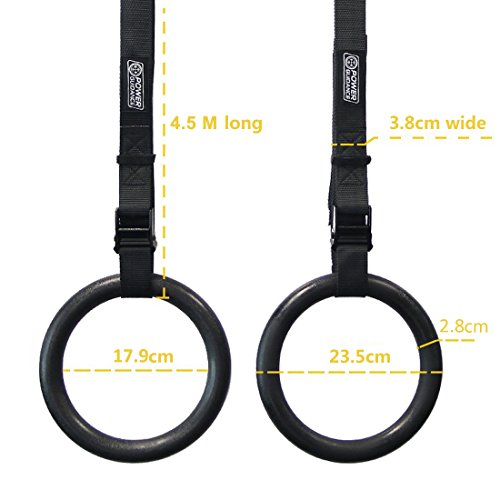 Zoom IMG-3 anelli ginnastica power guidance anello