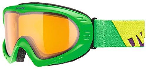 Uvex, Maschera da sci Cevron, Verde (Green Mat/Lgl), Taglia unica