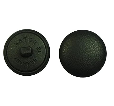 Leather Button Leather Buttons 20 mm black real leather covered