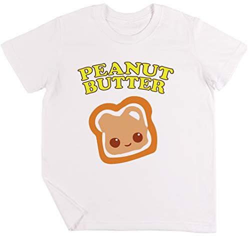 Couple - Peanut Butter (& Jelly) Kinder Jungen Mädchen Unisex T-Shirt Weiß