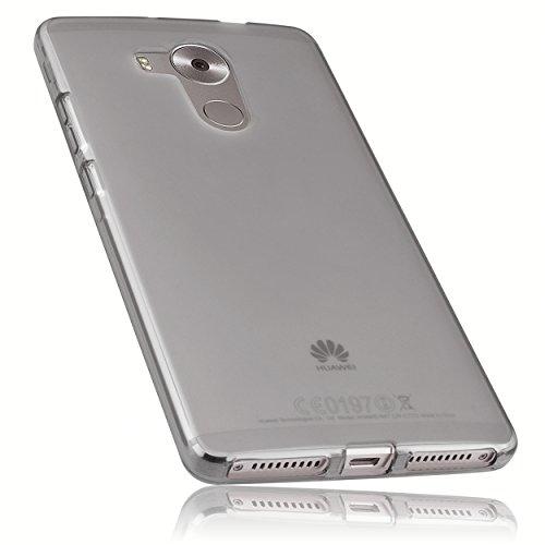 mumbi Hülle kompatibel mit Huawei Mate 8 Handy Case Handyhülle, transparent schwarz